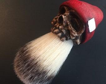 Beanie Shaving Brush (Red)