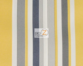 Oxford Stripe Outdoor Canvas Waterproof Fabric   YELLOW   60 Part 86