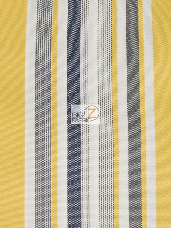 Oxford Stripe Outdoor Canvas Waterproof Fabric   YELLOW   60