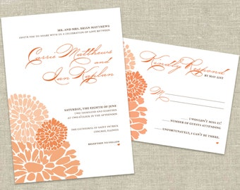 "Sophisticated Floral Wedding Invitation Printable - ""Carrie"""