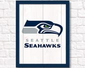 SEATTLE SEAHAWKS rustic wood sign - Seahawks fan wall hanging Boys room Man cave decor - Fathers Day gift for Dad