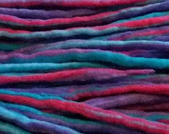 Wool dreadlocks Purple Blue Pink custom wool dreads-  Double Ended Roving art hair extensions Kit