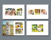 4 x 6 White Space Digital Photo Collage Templates - Set 1