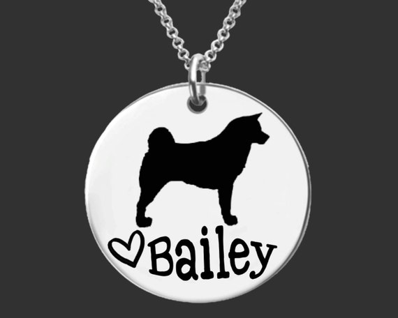 Akita Dog Necklace | Akita Dog Jewelry | Dog Pendant | Personalized Dog Necklace | Personalized Gifts | Korena Loves