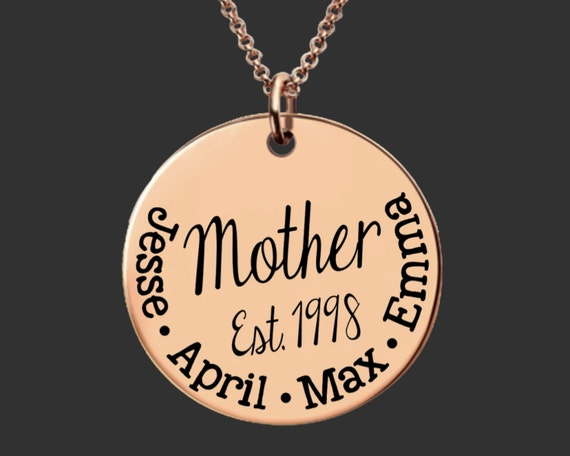 Rose Gold Mothers Necklace | Gold Mom Necklace Mother's Day | Gifts for Mom | Gifts for Mom | Mommy Necklace | Inspirational | Korena Loves