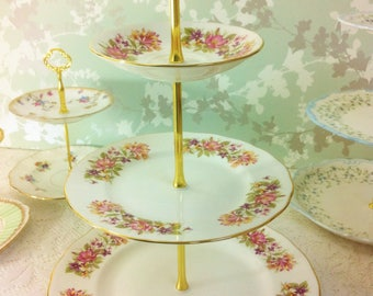 "3 Tier Cake Stand, "" Wayside "" Colclough A"