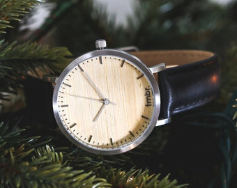 Wood Watch, Husband Gift Wood Watch For Men, Personalized Watch - HELM-SC