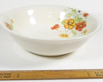 Knowles Nasturtium Bowl - Serving Bowl - Edwin Knowles Ivory 29-2-9