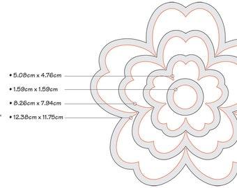 Sizzix Framelits Dies 4/Pkg-Flowers #3