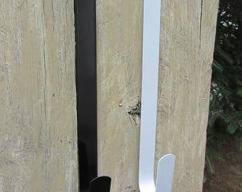 """12"""" Door Wreath Hanger - Over The Door Hook - Wreath Hanger - Wreath Hook - White Door Hook - Metal Wreath Hanger - Black Door Hanger"""