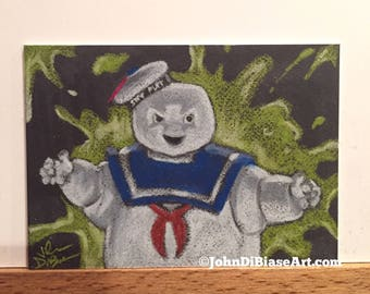 Original Ghostbusters Stay Puft Sketch Trading Card