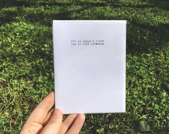 Lifetime Typewriter Love Note