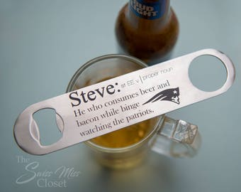 Personalized Metal Bottle Opener Father's Day Groomsmen Wedding Gift Favor