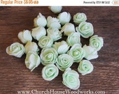 WINTER SALE Pastel Mint Green Foam Roses Artificial Flower Heads, for Crafts, Weddings, Table Scatters, Decor, Wedding Decor, DIY Floral, Cr