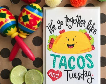 Taco Tuesday wooden sign