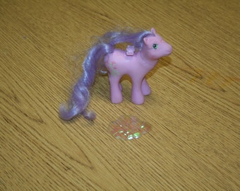"Vintage 1980s MY LITTLE PONY Lily ""Flutter Pony""!  Includes One Wing!   Private Collection!"