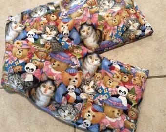 Kitties and Teddies Neck Corn Cozie