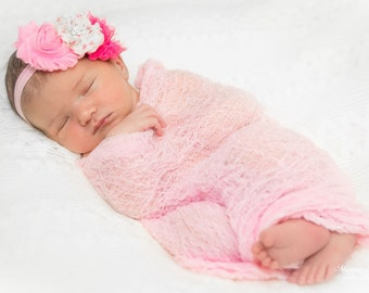 Newborn PHOTOGRAPHY Cheesecloth Wraps ..Set of Four.Baby... is in Cotton Candy wrap...Baby Cheesecloth Photo Wraps...Newborn Wraps