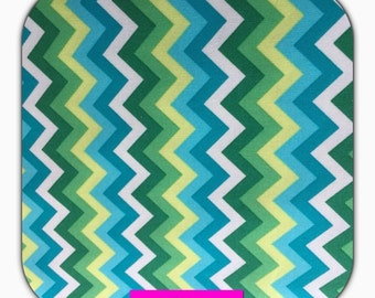 Cotton fabric with Chevron patterns Stenzo, 50 cm, turquoise, blue