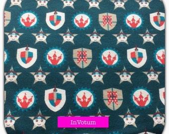 Cotton Jersey fabric Knight, Castle, 50 cm