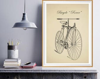 Bicycle Art Print Gift for Cyclist Gift for Boyfriend Bike Art Print Bicycle Wall Art Gift for Biker Bicycle Poster Vintage Bicycle Cycling