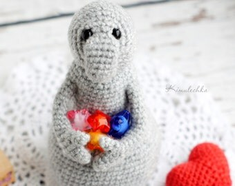 Crochet Homunculus loxodontus Zhdun, Вязаный Ждун, Amigurumi toy Zhdun, Crochet plushes Homunculus loxodontus
