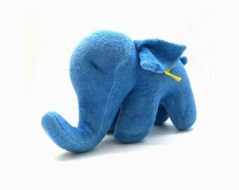 Vtg. Blue Steiff Elephant | Baby Soft Toy | 80s