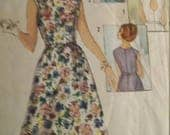 Vintage Simplicity 5489 Sewing Pattern One-Piece Dress  with 3 Backs size 14 Bust 34