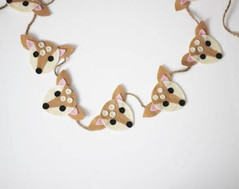 Little Deer Felt Garland