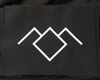 Twin Peaks Owl Cave Logo Patch. DIY. Screen Printed. Fire Walk With Me. Black Lodge