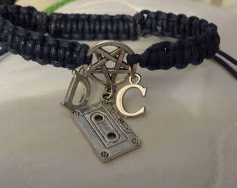 Supernatural inspired 'Dean and Cas the mixtape edition' macrame bracelet