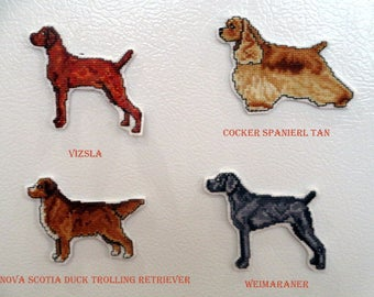 Counted Cross Stitch Sporting Dogs Magnets #2
