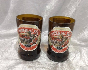 Wychwood Brewery Imperial Red Beer Glasses (Recycled Bottles) Set of 2