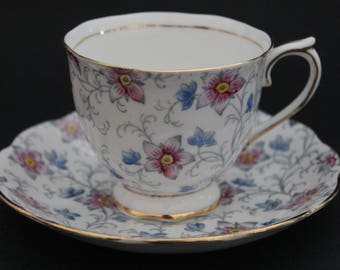Royal Albert Crown China Teacup and Saucer Set