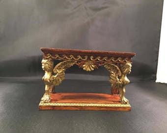 Miniature Dollhouse Baroque Rococo Italian French Harpie/Sphinx Console Table