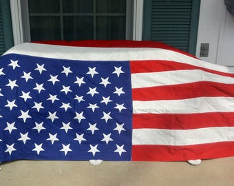 US Flag, Large - 50 Stars, Cotton, 112 x 57 In, Valley Forge Co - American Flag, Patriot Flag - Vintage - Fabulous!