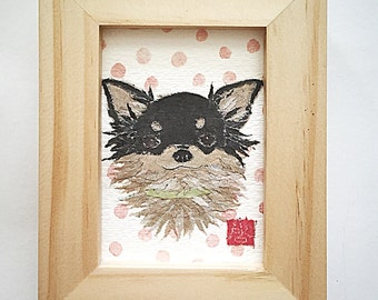 Long Haired Chihuahua Art, Chihuahua Gifts for Her, Chihuahua Decor