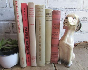 Cream and Rose Books Vintage Book Collection Books As Decor
