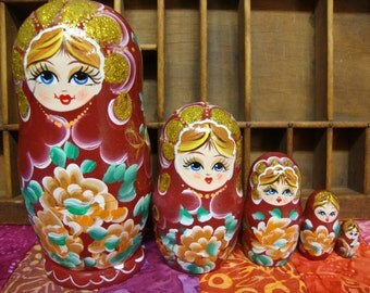 Nesting Dolls Hand Painted