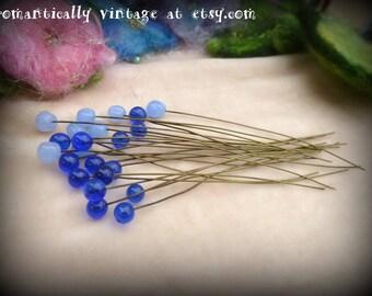 Beads, Charms, Blue, Destash, Victorian, Shabby Chic, DIY, Embellishments, Craft Supplies, Beaded, Vintage