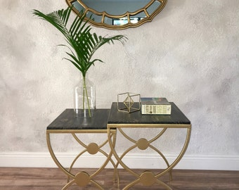 Vintage Gold Legs Accent Tables