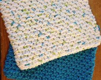 2 Crocheted Potholders