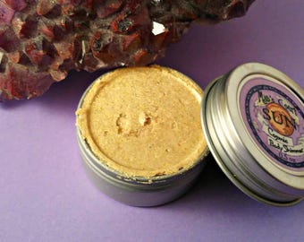 Sun Cosmic Body Shimmer - Shimmery Gold Body Highlighter Cream Makeup for Going Out Goddess Glow