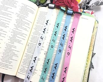 Powder Blue - Wwjd Bracelet, Bible Journaling, Bookmark