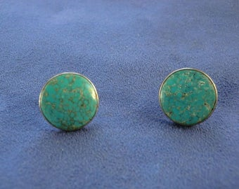 Havey Era Number Eight Mine Turquoise Earrings