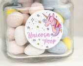 Unicorn Poop - Unicorn Stickers - Unicorn Party - Unicorn Party Favors - Party Favors - Favor Stickers - Favor Bags - Assorted Sizes