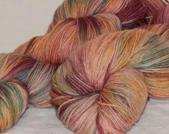 Tapestry on Mad Sock 75/25 SW merino and nylon sock yarn