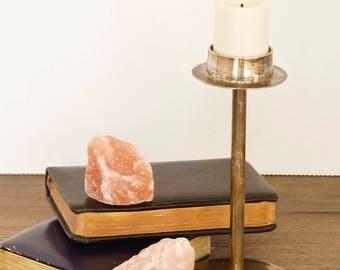 vintage silver candle holder tea-light stand minimalist