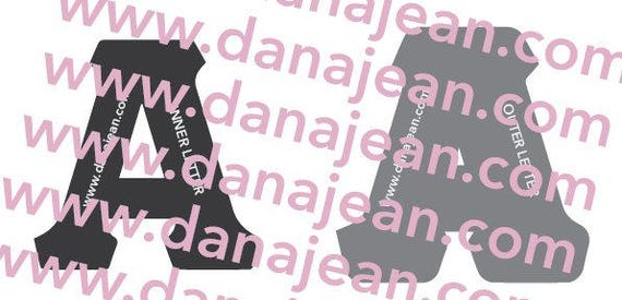 Dynamic image with printable greek letter stencils for shirts