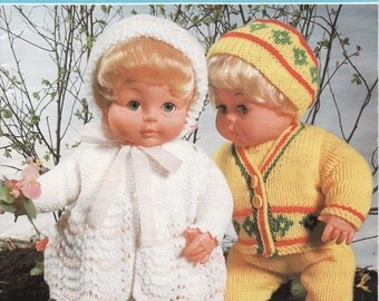 VINTAGE KNITTING Pattern BOOK , Dolls Clothes Patterns, Baby Doll Knitting Pattern, Double Knitting Pattern, Dolls Layette, Dolls outfit